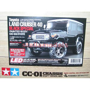 58564 Tamiya CC 01 Toyota Land Cruiser 40 Black Special Painted Body w LED ESC