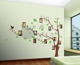 Large Reusable Removable Photo Frame Tree Wall Sticker Decor Decal Decal HOME803