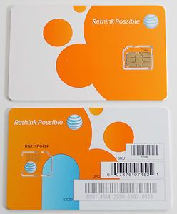 At T Prepaid 3G 4G Factory Micro Sim Card Ready Activate SKU 72290 iPhone 4 4S