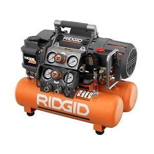 Ridgid Tri Stack 5 Gal Portable Electric Steel Orange Air Compressor OF50150TS