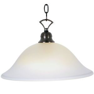 AF Lighting Frosted Glass Oil Rubbed Bronze Single Light Hanging Pendant
