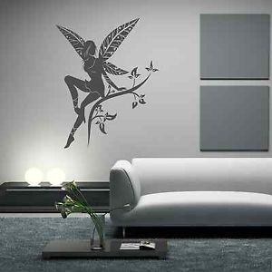 Wild Flower Fairy Plant Tree Wings Wall Stickers Decals Murals Transfers Vinyl