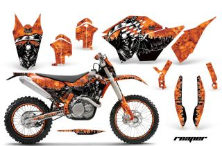 AMR Racing Graphic Kit Number Plate Backgrounds KTM 125 250 450 XC EXC SX 07 11