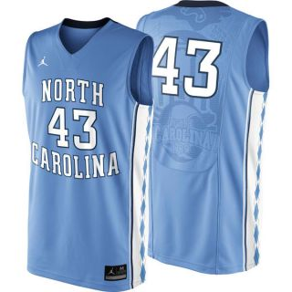 UNC North Carolina Tar Heels 43 Nike Light Blue Basketball Youth Jersey