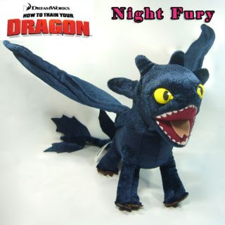 How to Train Your Dragon Soft Plush Toy Toothless Night Fury Collectable Doll