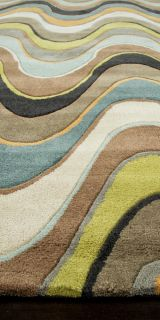 Area Rugs Contemporary Hand Tufted Sea Blue 2'x3' 22533 Jay