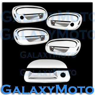 97 03 Ford F150 Triple Chrome 4 Door Handle No Keypad w PSG KH Tailgate Cover