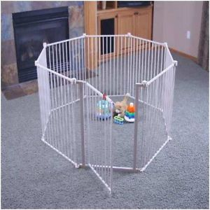 Large Metal Play Yard Pen White Security Safety Gate Baby Infant Toddler Pet