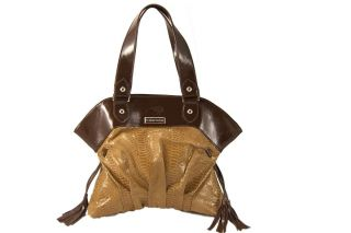 Brown Designer Leather Hobo Handbag Bag Classy Soft Runway Style Large New
