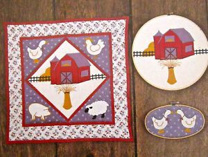 Farm Applique Quilting Patterns Barn Animals Geese