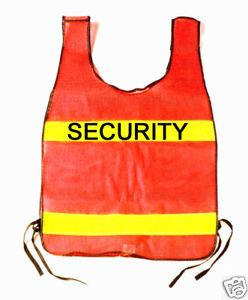 Security Orange Reflective Traffic Safety Vest Fits All