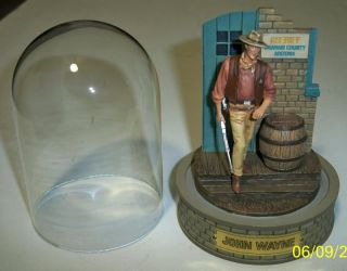 John Wayne Hand Painted Sculpture Numbered Limited Edition by The Franklin Mint