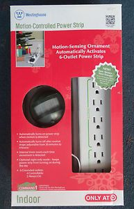 Westinghouse Motion Controlled Power 6 Outlet Strip Holiday Christmas Tree Light