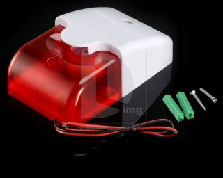 Mini 12V Security Wired Flash Sound Alarm Strobe Light Siren Security System