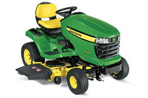 "New John Deere X324 4 Wheel Steering Riding Lawn Tractor with 48"" Mower Deck"
