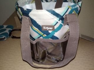 Thirty One Round About Caddy Shower Tote Sea Plaid Ships Free