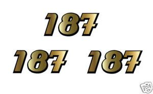Racing Number Plate Decal Custom w Outline Motocross