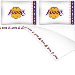 NBA Los Angeles Lakers Bedding Accessories Full Sheet Set Basketball Sheets