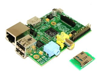 New Raspberry Pi 512MB HDMI Audio Port Single Board Mini Computer w Card Reader