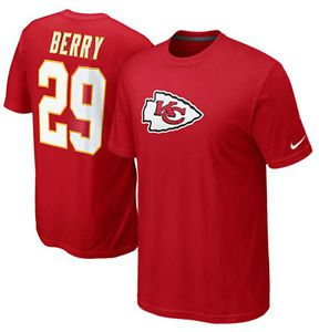 Nike NFL Kansas City Chiefs Eric Berry 29 Red Jersey Name Number T Shirt