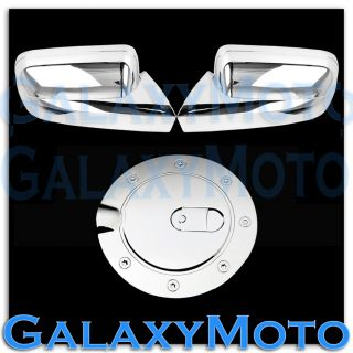 05 09 Ford Mustang Triple Chrome Plated Full Mirror Cover Gas Tank Fuel Cover