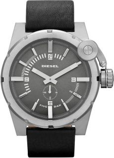 Diesel Watch Men Black Leather