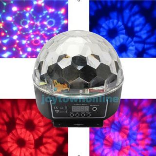 LED RGB Crystal Magic Ball Effect Lighting DMX Control Panel Party Stage Disco