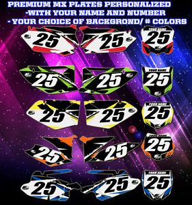 Custom Pre Printed Number Plate Backgrounds Aftershock