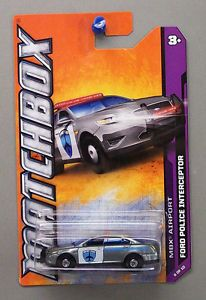 Ford Police Car Matchbox 1 64 Scale Diecast Car Truck