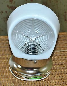 """Art Deco"" Wall Mounted Light Glass Star Design Globe Chrome Base Outlet"