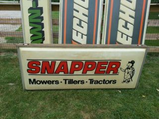 Huge Vintage 6ft Snapper Sign Lawn Garden Tractor Mower Antique Engine
