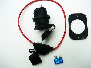 Cigarette Lighter Socket Power Outlet 12 Volt Marine Motorcycle Fuse Holder