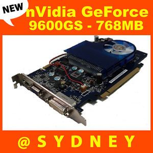New HP NVIDIA GeForce 9600GS 768MB DVI VGA HDMI PCIe Graphic Card 466762 001