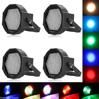 4X RGB DMX512 127 LEDs Stage Lighting Effect Light Disco DJ Party Show KTV Bar