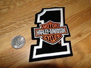 Harley Davidson Number 1 Patch New