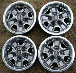 Olds 64 87 Cutlass 442 14x6 Rally Wheels Complete
