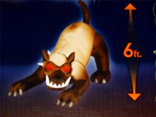 Halloween Yard Decoration 6ft Animated Evil Hound Attack Dog Airblown Inflatable