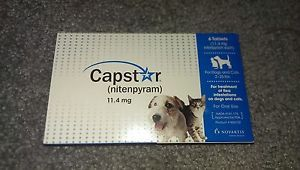 Capstar Oral Flea Treatment Dogs and Cats 2 25 lbs 6 Tablets 11 4 MG Brand New