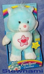 Care Bear Cousins Proud Heart Cat 12 inch Plush Doll w VHS