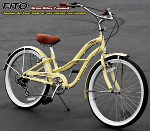 "Anti Rust Frame Fito Brisa Alloy 7 Speed 26"" Beach Cruiser Bike Bicycle Women VA"