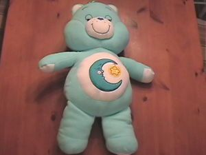 2002 Care Bears Blue Bedtime Bear Cuddle Pillow Clean