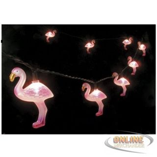 Christmas Pink Flamingo Fun Party String Lights SJ