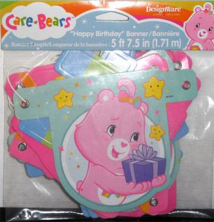 New Care Bears Happy Birthday Banner Party Decoration