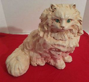 Vintage 1966 White Persian Cat by Progressive Art Products USA