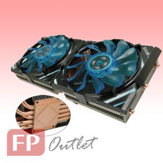 Gelid Icy Vision A VGA Graphic Card Cooler 2X Fan Heatpipe AMD Radeon HD79 78 69