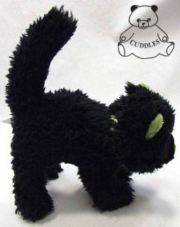 Creepers Black Cat Halloween Gund Plush Toy Stuffed Animal Green Meows BNWT SM