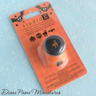 Halloween Cat Cookie Punch Dollhouse Miniature Polymer Clay Food Supplies