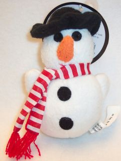 Multipet Puppy Buddies Snowman Holiday Small Dog Toy Pet Toys Squeaky