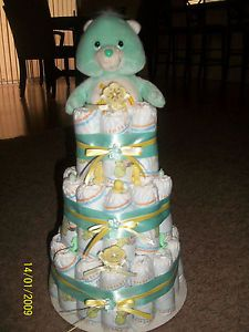 Care Bears Baby Diaper Cake
