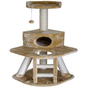 "50"" Cat Tree House Toy Bed Scratcher Post Furniture F51"